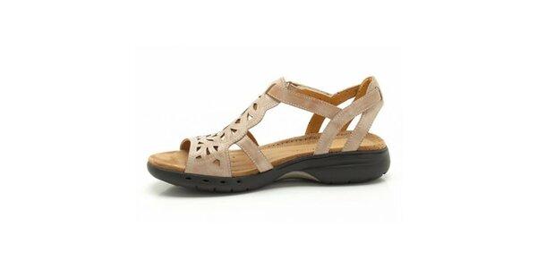 Dámske béžové športové sandálky Clarks
