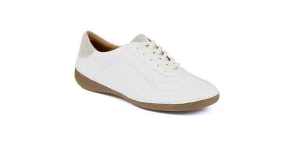 Dámske biele kožené tenisky Clarks