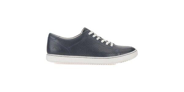 Pánske tmavo modré šnurovacie topánky Clarks