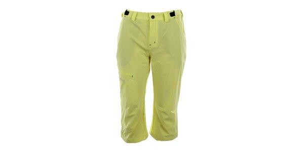 Dámske žlté športové capri nohavice Trimm