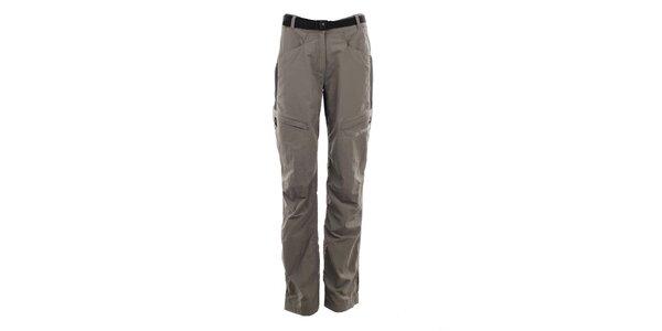 Dámske pieskovo-čierne outdoorové nohavice Trimm