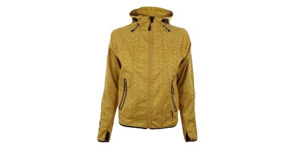 Dámska žltá softshellová bunda so vzorom Trimm