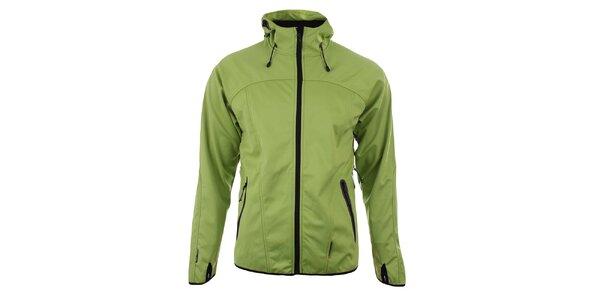 Pánska zelenožltá softshellová bunda Trimm