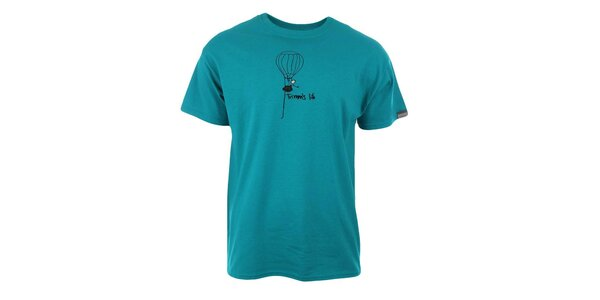Pánske modré tričko s potlačou Trimm