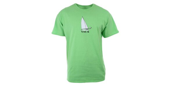 Pánske limetkové tričko s potlačou Trimm