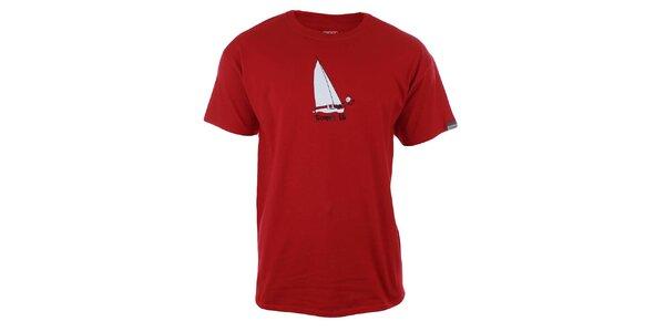 Pánske červené tričko s potlačou Trimm