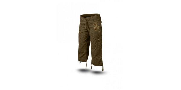 Dámske zelenohnedé 3/4 nohavice Trimm Sharon
