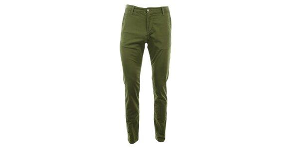 Dámske zelené slim chino nohavice Monkee Genes