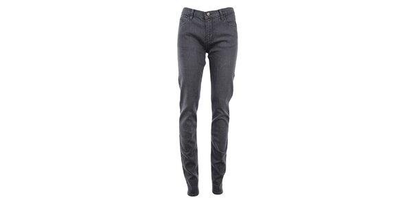 Dámske šedé denimové skinny nohavice Monkee Genes