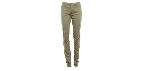 Dámske béžové skinny nohavice Monkee Genes