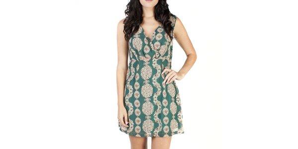 Dámske zelené šaty so vzorom Pepper Tree