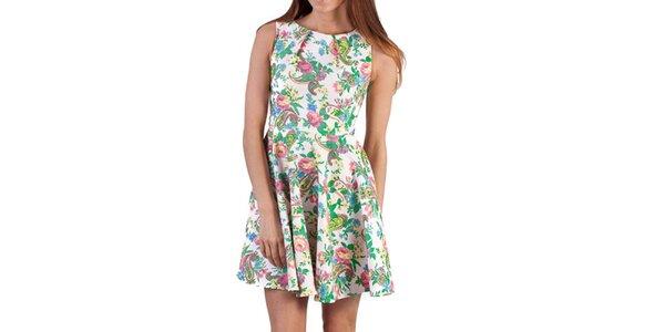 Dámske farebne vzorované šaty bez rukávov Pepper Tree