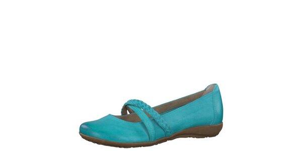 Dámske kožené tyrkysové topánočky Tamaris