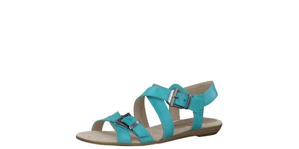 Dámske tyrkysové sandále Tamaris
