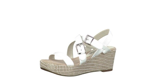 Dámske biele sandále Tamaris