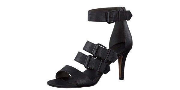 Dámske čierne sandále s prackami Tamaris