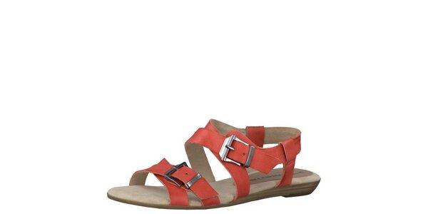 Dámske korálovo červené sandále Tamaris