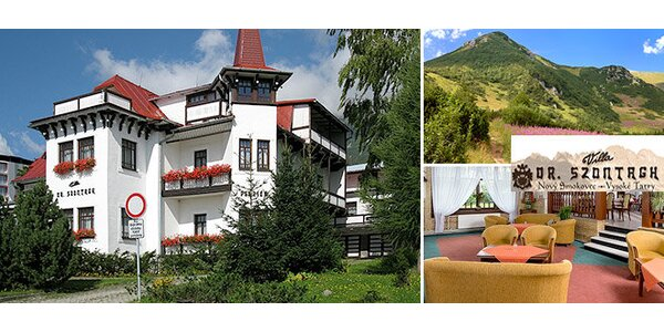 Oddych vo Vysokých Tatrách v historickej Ville Dr. Szontagh***