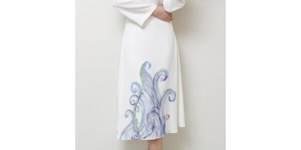 Dámska biela sukňa s jemnou potlačou Mija