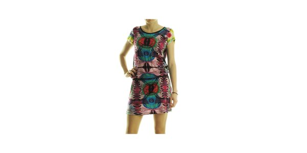 Dámske pestrofarebné šaty Custo Barcelona s abstraktnou potlačou