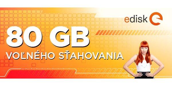 80 GB sťahovania na eDisk.sk