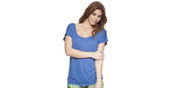Dámske modré tričko s okrúhlym výstrihom Kool