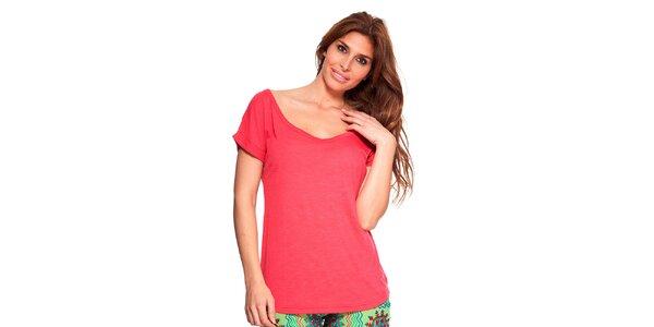 Dámske červené tričko s okrúhlym výstrihom Kool