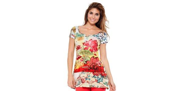 Dámska farebná tunika s kvetinovým vzorom Kool