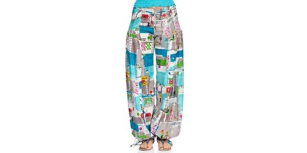 Dámske turecké nohavice s mestskou potlačou Kool