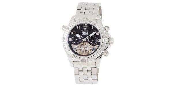 Pánske strieborné hodinky Wellington
