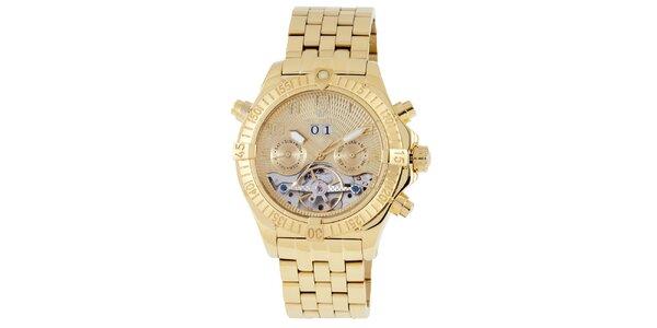 Pánske zlaté hodinky Wellington