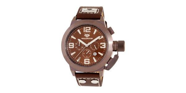 Pánske hnedé hodinky Wellington