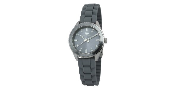 Dámske šedé hodinky so silikónovým remienkom Wellington