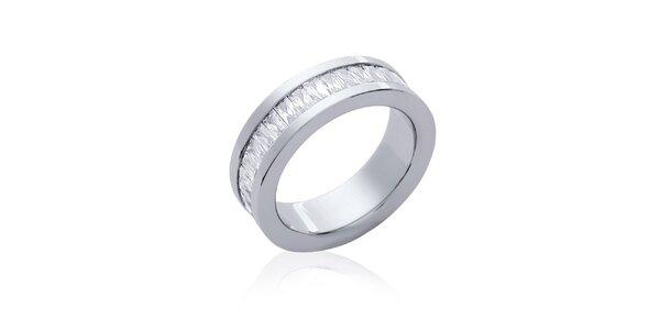 Dámsky oceľový prstienok so zirkónmi Fifi Ange
