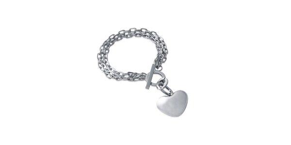 Dámsky náramok s príveskom srdca Fifi Ange