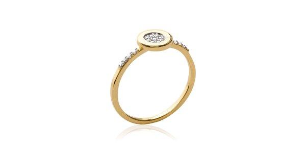 Dámsky pozlátený prsteň so zirkónmi Fifi Ange