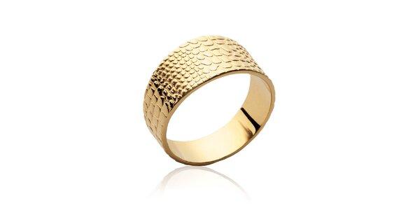Dámsky pozlátený prsteň s reliéfom Fifi Ange