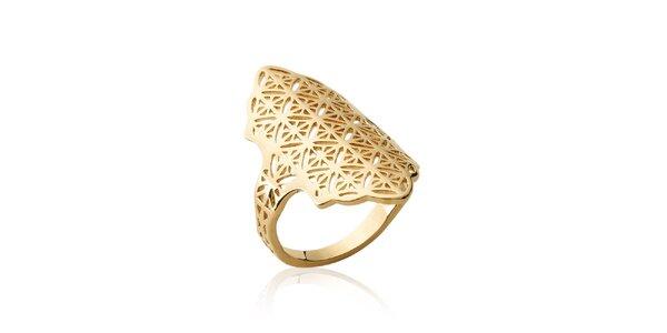Dámsky pozlátený prsteň s filigránovým vzorom Fifi Ange