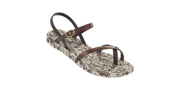 Dámske bronzové vzorované sandále Ipanema