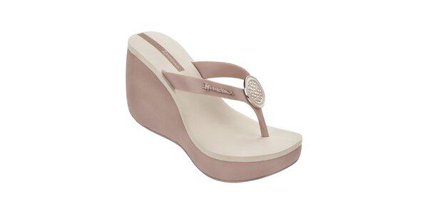 Dámske dvojfarebné sandále s ozdobou Ipanema