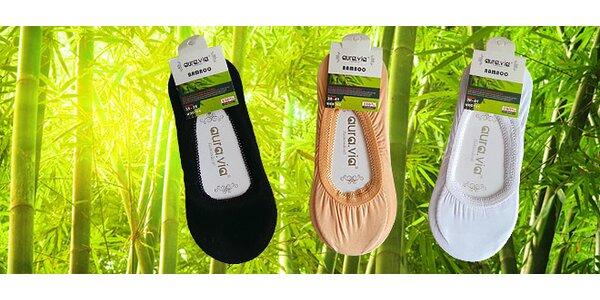6 párov bambusových ponožiek do balerínok