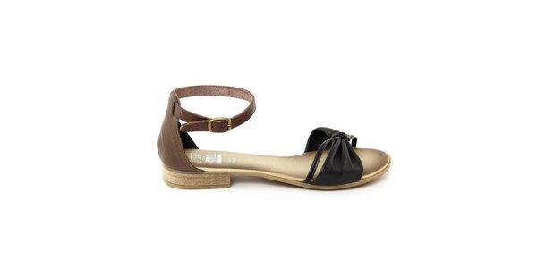 Dámske čierne kožené sandálky Julie Julie