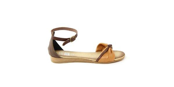 Dámske kožené sandálky s prackovým zapínaním Julie Julie