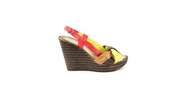 Dámske kožené farebné sandálky Julie Julie