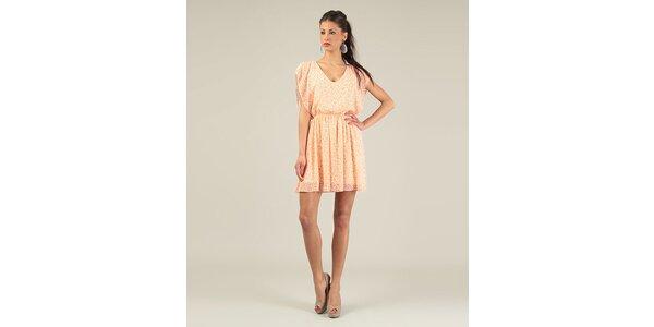 Dámske lososovo ružové krátke voľné šaty Lili Lovely