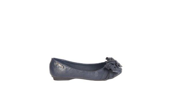 Dievčenské tmavo modré baleríny Xti s mašľou
