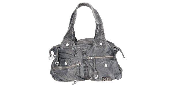 Dámska šedá denimová kabelka Xti s vreckami