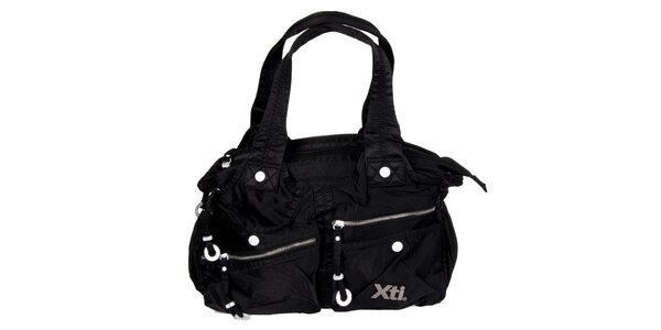Dámska čierna kabelka Xti s vreckami
