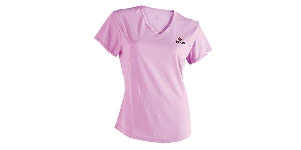 Dámske ružové technické tričko s krátkym rukávom Izas