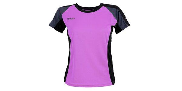 Dámske fialové funkčné tričko s tmavo šedými prvkami Izas